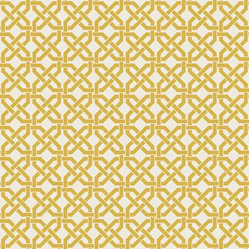 Geometric Pattern: Octagon Knot: Yellow Light by redwolfoz