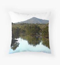 Breathe the tranquality Mt PITT Throw Pillow