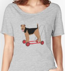 Got me some wheels Airedale! Women's Relaxed Fit T-Shirt