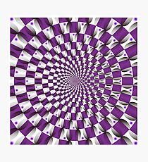 Optical illusion Spin Cycle Photographic Print