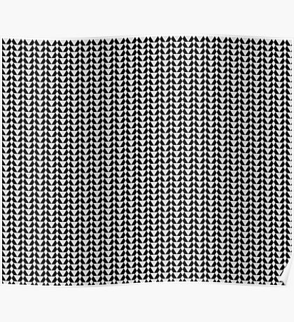 220 Greyscale & Black Pattern  Poster