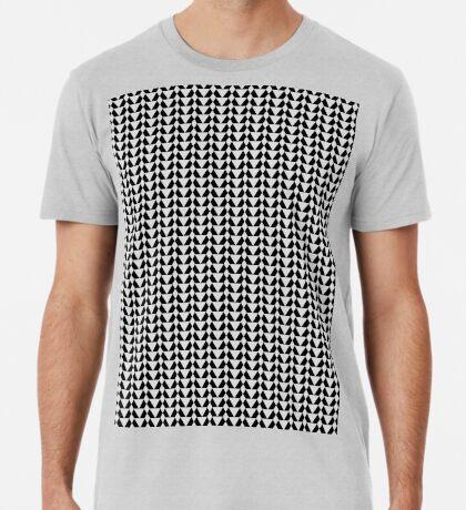 220 Greyscale & Black Pattern  Premium T-Shirt