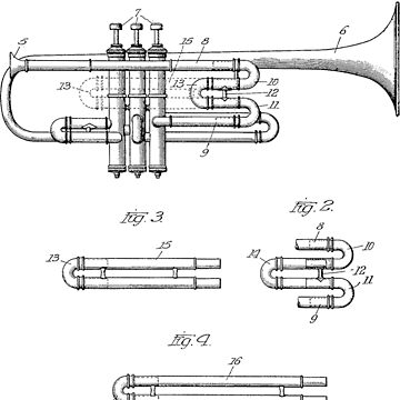 Trumpet patent from 1919 by chris2766