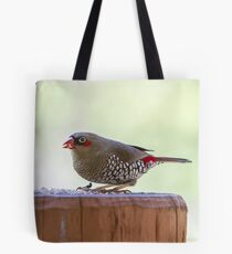 Red-eared Firetail Tote Bag