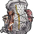 Watercolor Backpacker Pack by Kerstin La Cross
