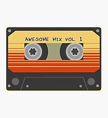 Awesome Mix Vol. 1 Cassette (K7) tape Photographic Print