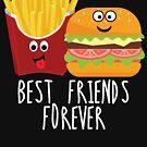 «Fries Burger Pommes Mejores amigos para siempre» de g3nzoshirts
