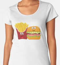 Fries Burger Pommes Best Friends Forever Women's Premium T-Shirt