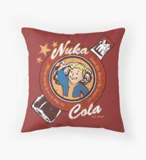 Fallout nuka cola logo featuring Vaultboy Throw Pillow