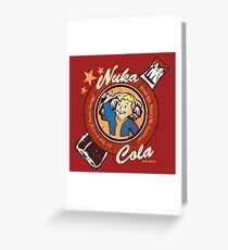 Fallout nuka cola logo featuring Vaultboy Greeting Card