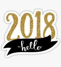 Hello 2018 Sticker