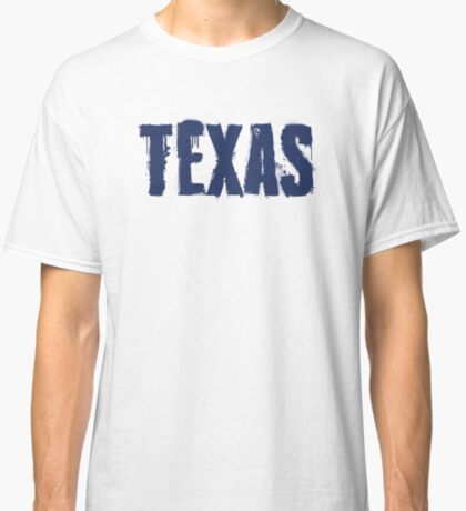 Texas State Grunge Letters Classic T-Shirt