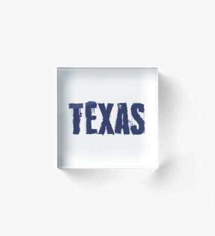 Texas State Grunge Letters Acrylic Block