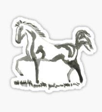 Sumi-e Horse Large Print Sticker