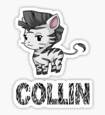 Zebra Collin Sticker