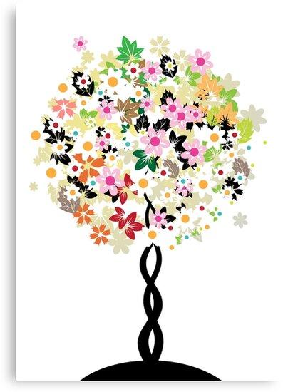 Floral tree by Kudryashka
