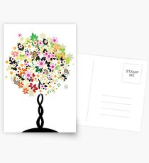 Floral tree Postcards