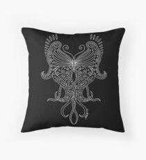 58 Butterfly - black Throw Pillow