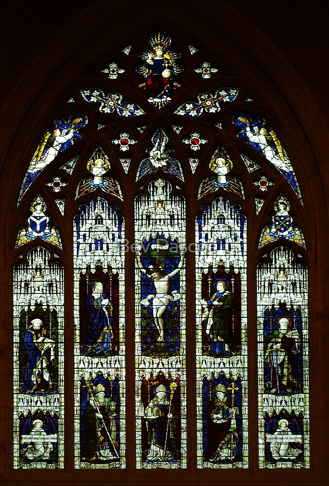 Window in St David's Anglican Cathedral, Hobart by Bev Pascoe