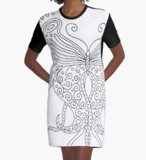 58 Butterfly - white Graphic T-Shirt Dress