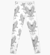 58 Butterfly - white Leggings