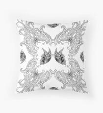 Butterfly set - white Throw Pillow