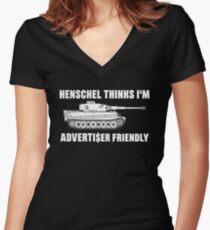 Henschel thinks I'm Advertiser Friendly - Tiger - Panzerkampfwagen VI Women's Fitted V-Neck T-Shirt