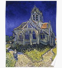 The Church at Auvers- Vincent van Gogh Poster