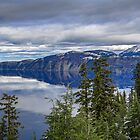 USA. Oregon. Crater Lake National Park. Clouds. Reflection. by vadim19