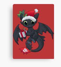 Christmas Dragon Canvas Print