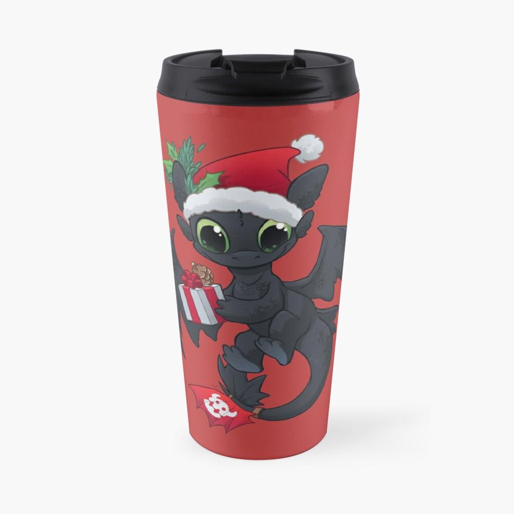 Christmas Dragon Travel Mug