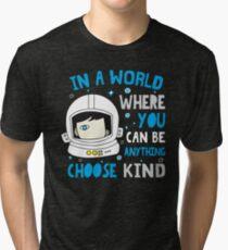 Trending Choose Kind Anti Bullying Helmet T-Shirt Tri-blend T-Shirt