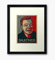 SHATNER Framed Print