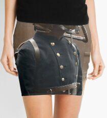 London Fire Brigade fireman, wearing a smoke helmet, 1908. Mini Skirt