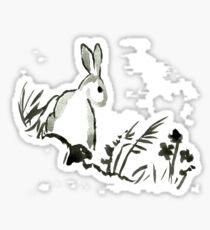 Sumi-e Rabbit Large Print Sticker