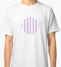vertical lines, pastel violet and white Classic T-Shirt