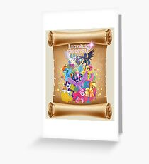 legends of equestria Greeting Card