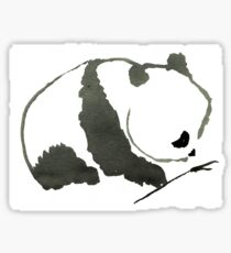 Sumi-e Panda Large Print Sticker