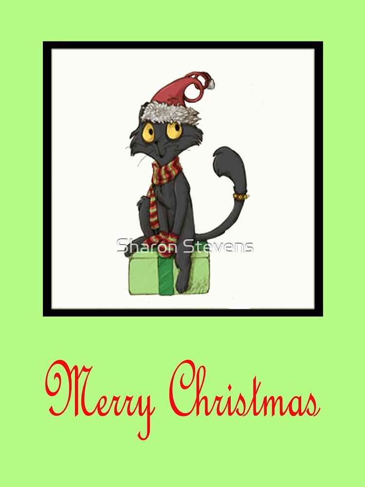 Merry Christmas Cat by Sharon Stevens