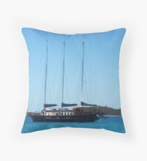 Yachting in Paradise Throw Pillow