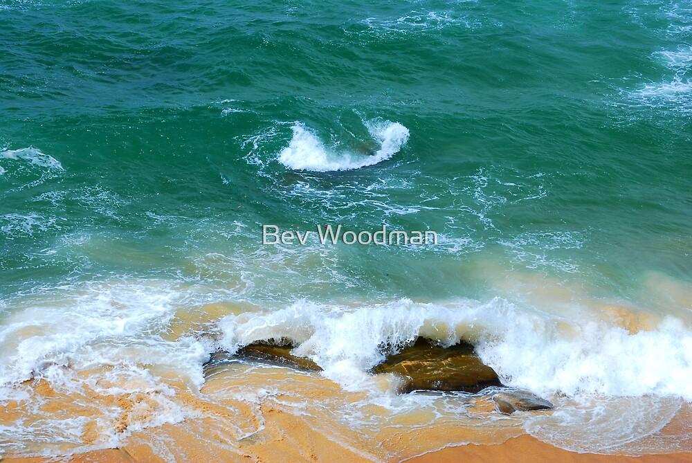 Surf Swirl - Bar Beach NSW by Bev Woodman