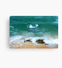 Surf Swirl - Bar Beach NSW Canvas Print