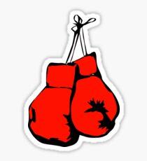 Hanging Boxing Gloves Drawn - Cool Boxing Sticker T-Shirt Pillow Sticker