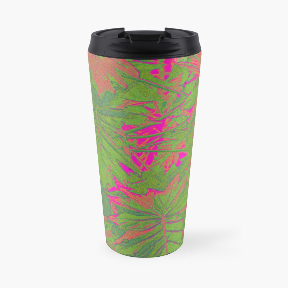 Hot Pink Nature Travel Mug