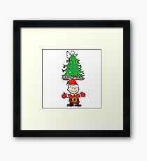 charlie brown christmas tree Framed Print