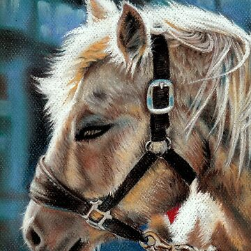 Trigger, equine therapist by Hopemartinart