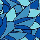Fractal Wings Blue by Kristin Omdahl