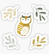 Winter Woodland Owl by Katy Bloss Sticker