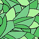 Fractal Wings Green by Kristin Omdahl