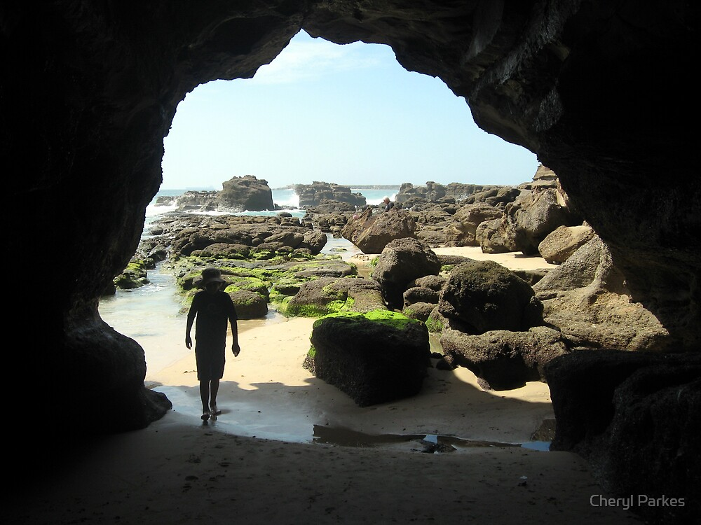 Child at Caves Beach by Cheryl Parkes